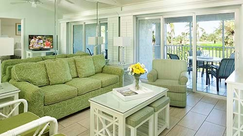 Seawatch On-the-Beach Resort Living Area