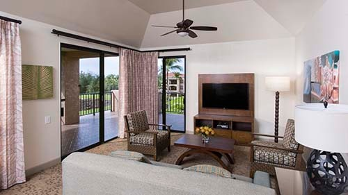 The Bay Club at Waikoloa Beach Resort Living Area
